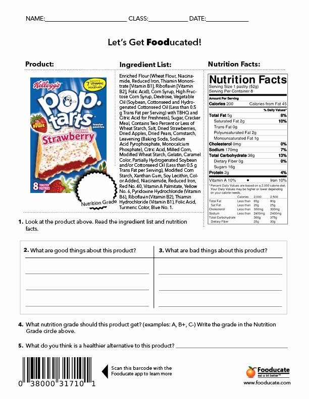 Cooking Worksheets for Middle School Printable Fun Nutrition Worksheets for Kids