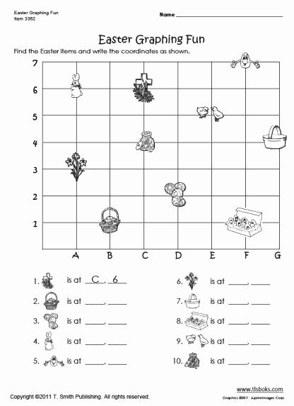Coordinate Grid Pictures 5th Grade Free Coordinate Grid Worksheets 5th Grade Easter Graphing