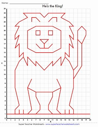 Coordinate Grid Pictures 5th Grade Kids Mystery Graph Picture Worksheets