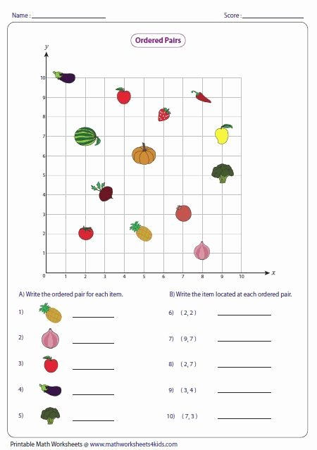 Coordinate Grid Worksheet 5th Grade Free ordered Pairs and Coordinate Plane Worksheets