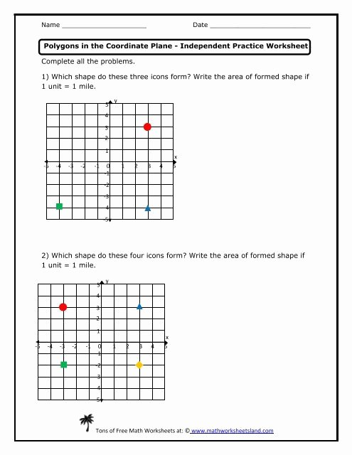 Coordinate Grid Worksheets 6th Grade Inspirational Coordinate Plane Worksheets 6th Grade – Worksheet for Learning