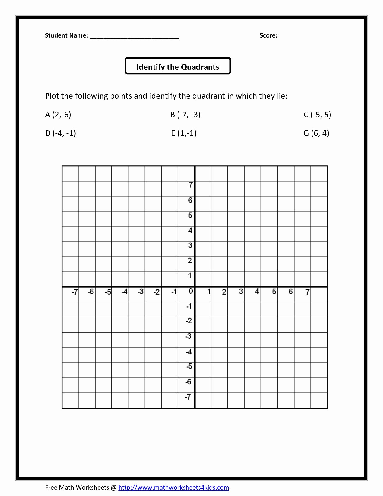 Coordinate Grid Worksheets 6th Grade top Math Coordinate Grid Worksheets