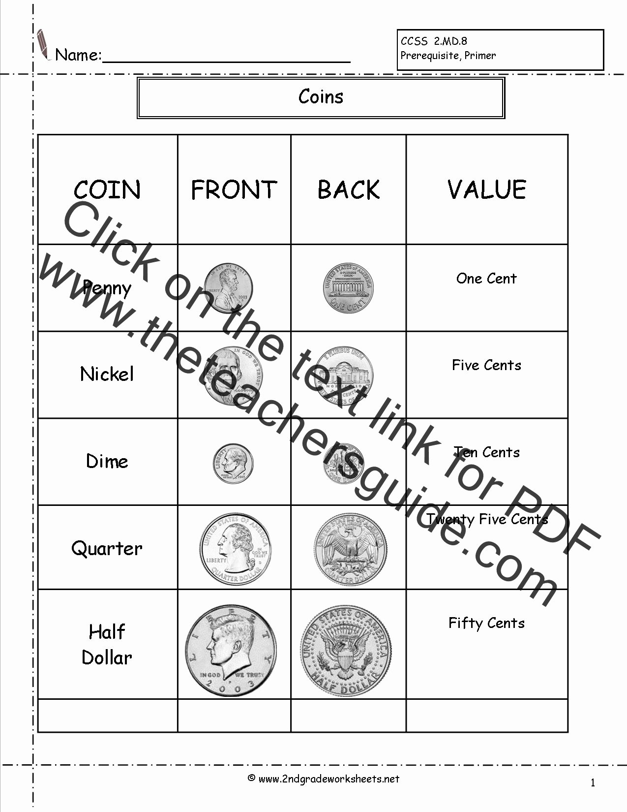 Counting Coins Worksheets 2nd Grade top Counting Coins and Money Worksheets and Printouts