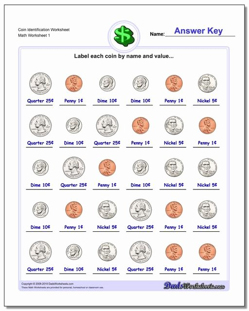 Counting Coins Worksheets First Grade Best Of Money Coin Worksheets First Grade Identification V1 ordering