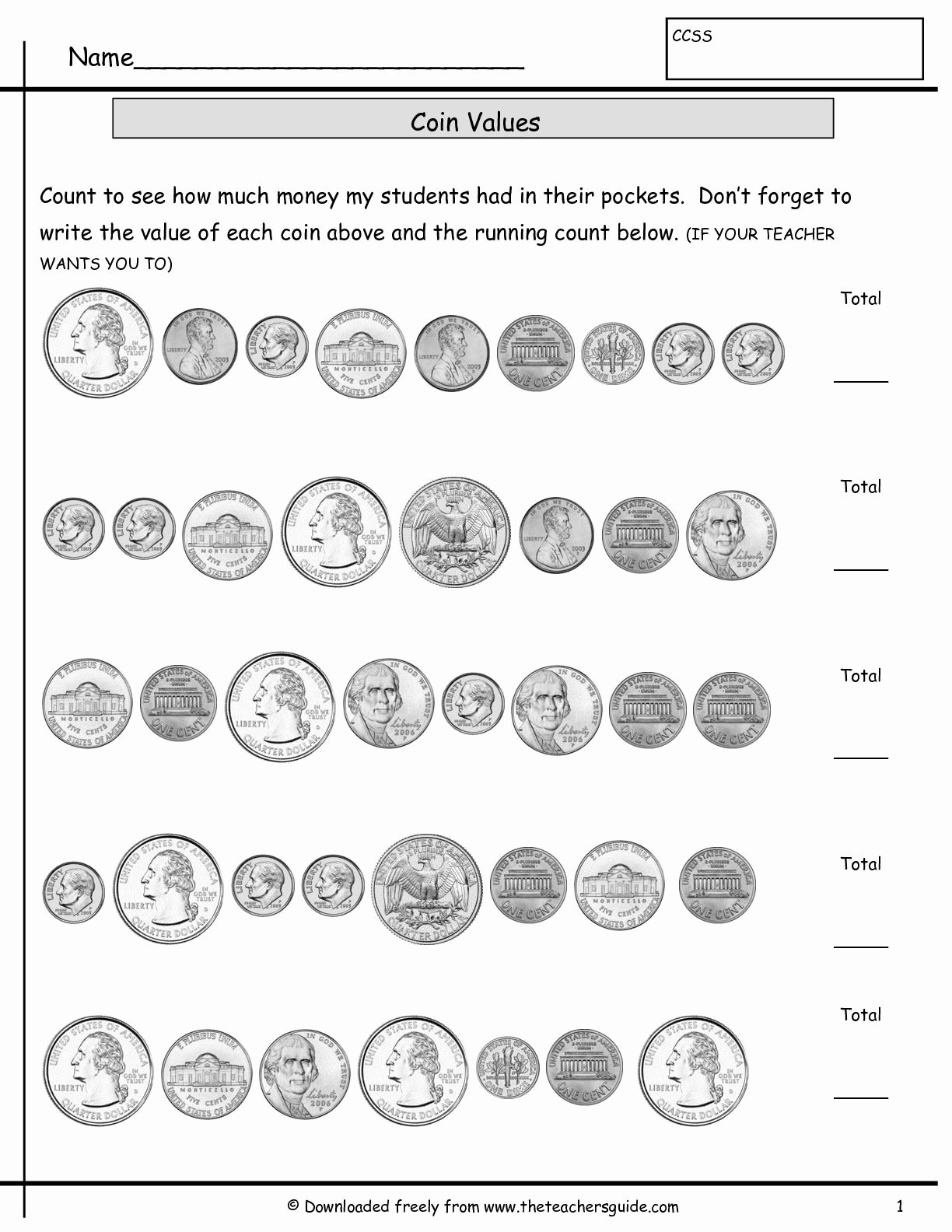Counting Coins Worksheets First Grade Fresh Counting Coins Worksheets From the Teacher S Guide