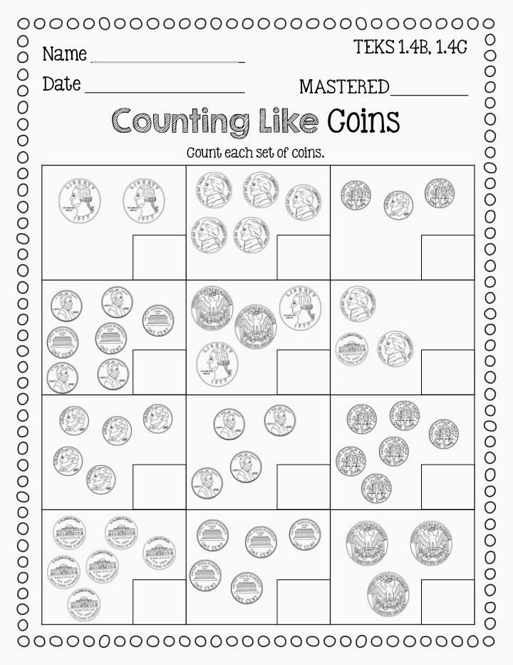 Counting Coins Worksheets First Grade Printable Identifying Coins and Counting Coins Freebie From Flying