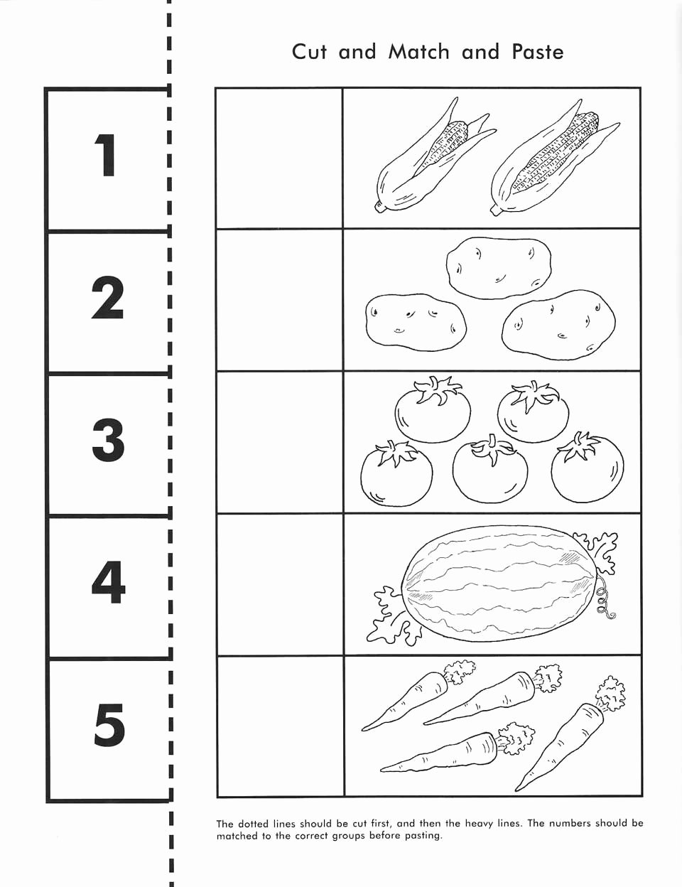 Counting Cut and Paste Worksheets Printable Home Education Journal Rod & Staff Preschool Workbooks