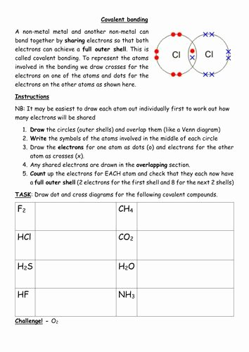 Covalent Bonding Worksheet Answer Key Best Of Covalent Bonding Worksheet In 2020