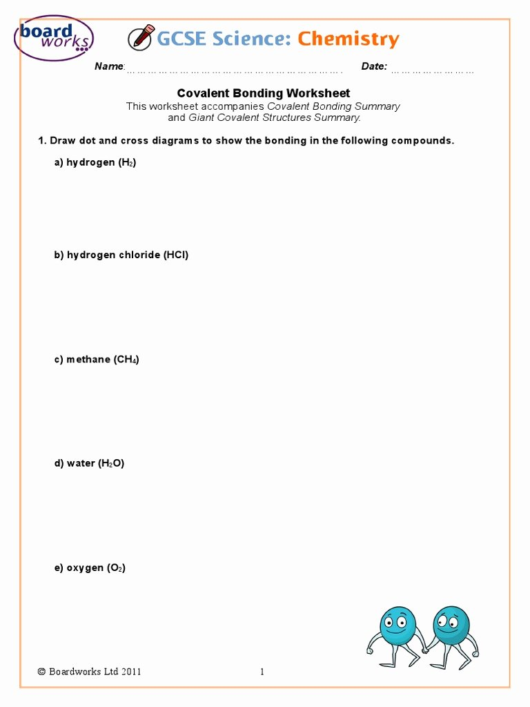 Covalent Bonding Worksheet Answer Key Ideas Covalent Bonding Worksheet Carbon
