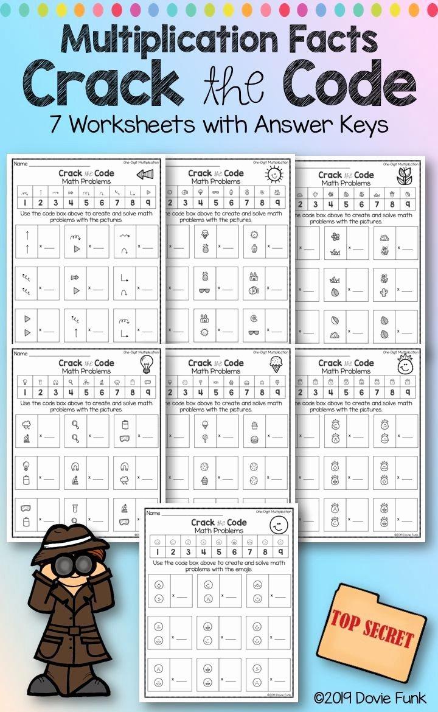 Crack the Code Math Worksheet top Multiplication Worksheets Math Crack the Code Puzzles