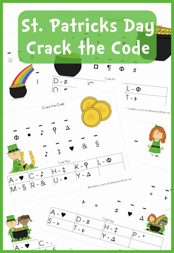Crack the Code Worksheets Printable Ideas Free Worksheets St Patrick S Day Crack the Code Printable