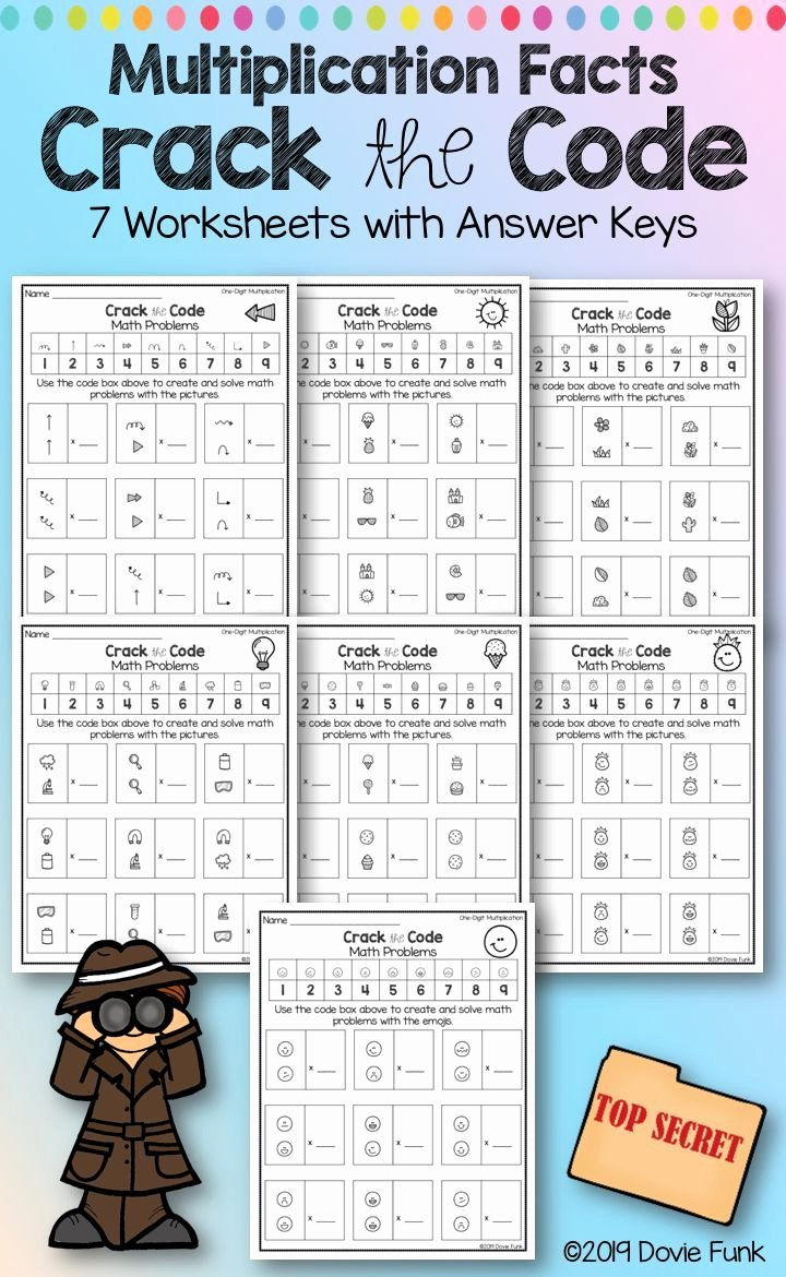 Cracking the Code Math Worksheets Best Of Pin On Grades 3 5