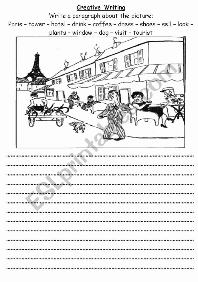 Creative Writing Worksheets for Adults Kids Esl Creative Writing Worksheets Elementary Prompts Digit