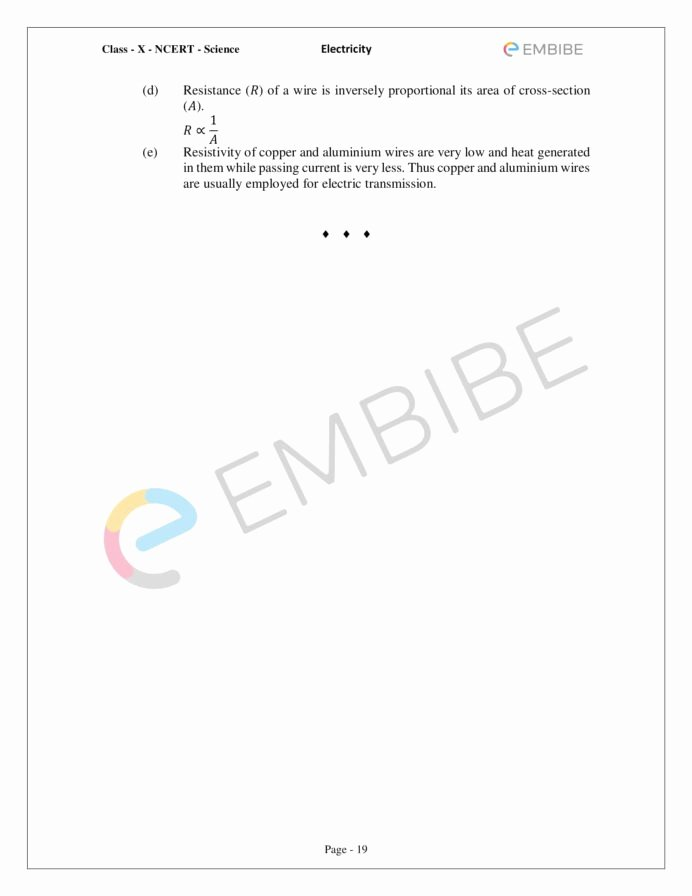 Cross Section Worksheet 7th Grade Printable Cbse Ncert solutions for Science Chapter Electricity