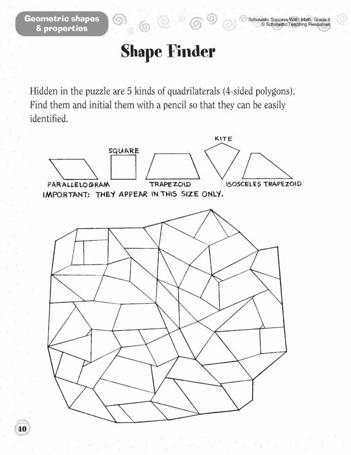 Cross Sections Worksheet 7th Grade Lovely 1st Grade Shapes Worksheet Printable Worksheets and