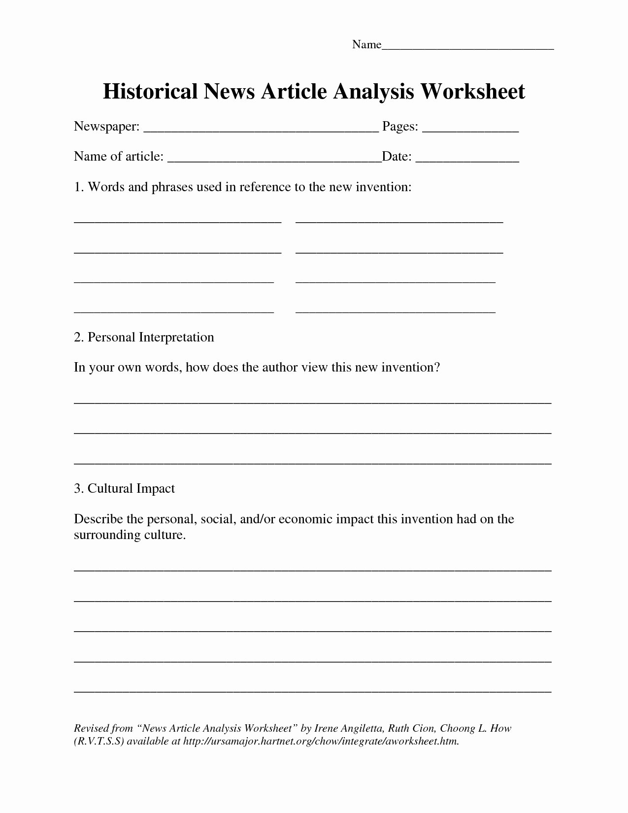 Current event Worksheet High School Best Of Current events Paper Worksheet