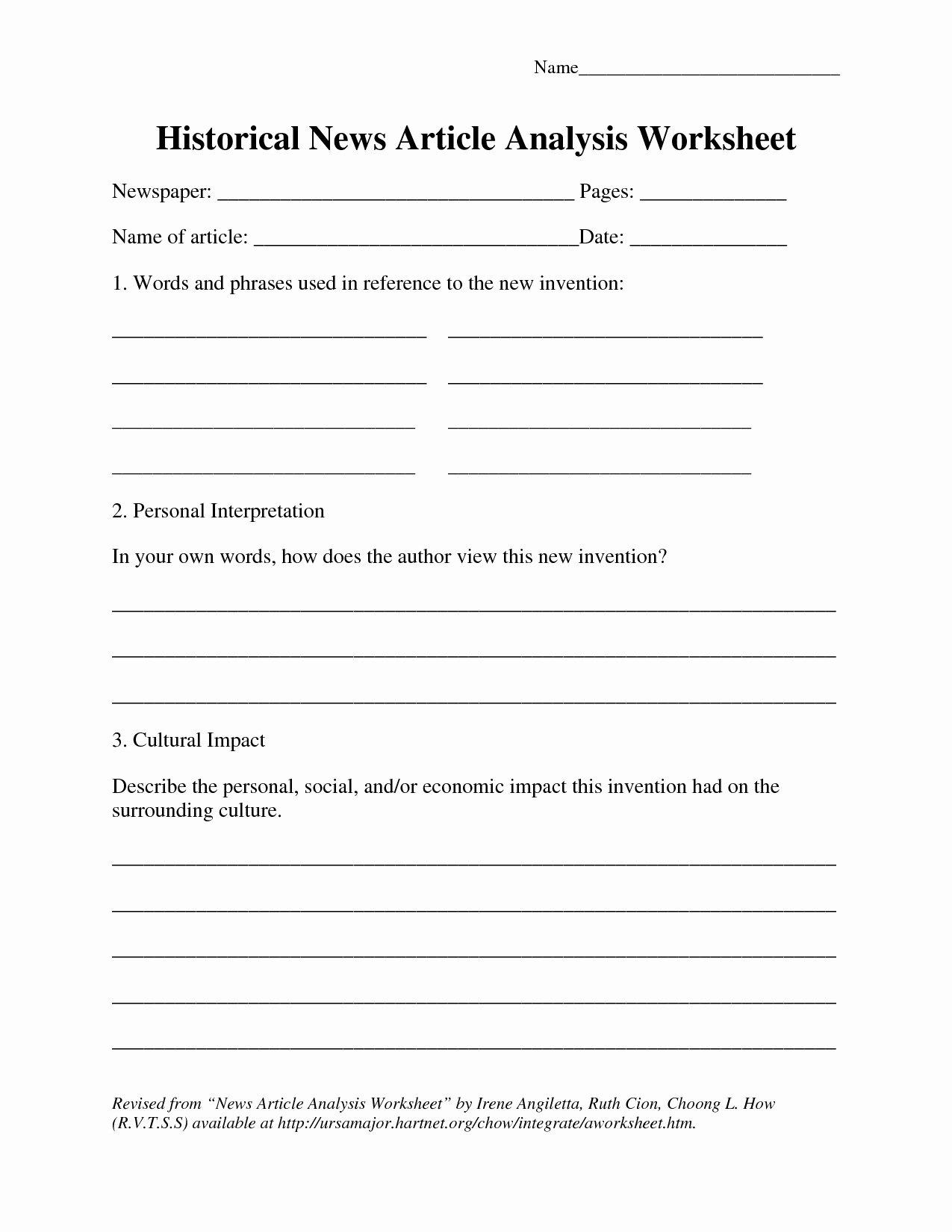 Current event Worksheet High School Best Of Current events Paper Worksheet