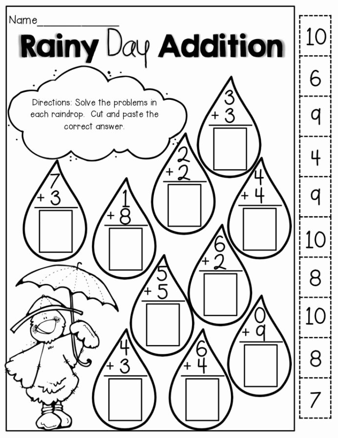Cut and Paste Math Worksheets Fresh Pin Education Kindergarten Math Worksheets Cut and Paste