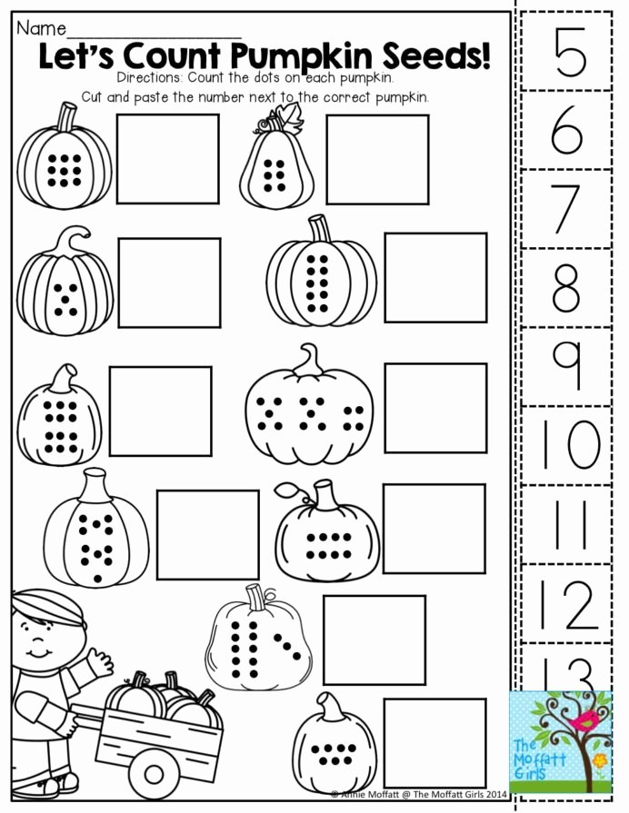 Cut and Paste Math Worksheets top October Fun Filled Learning Resources Worksheets for Kids