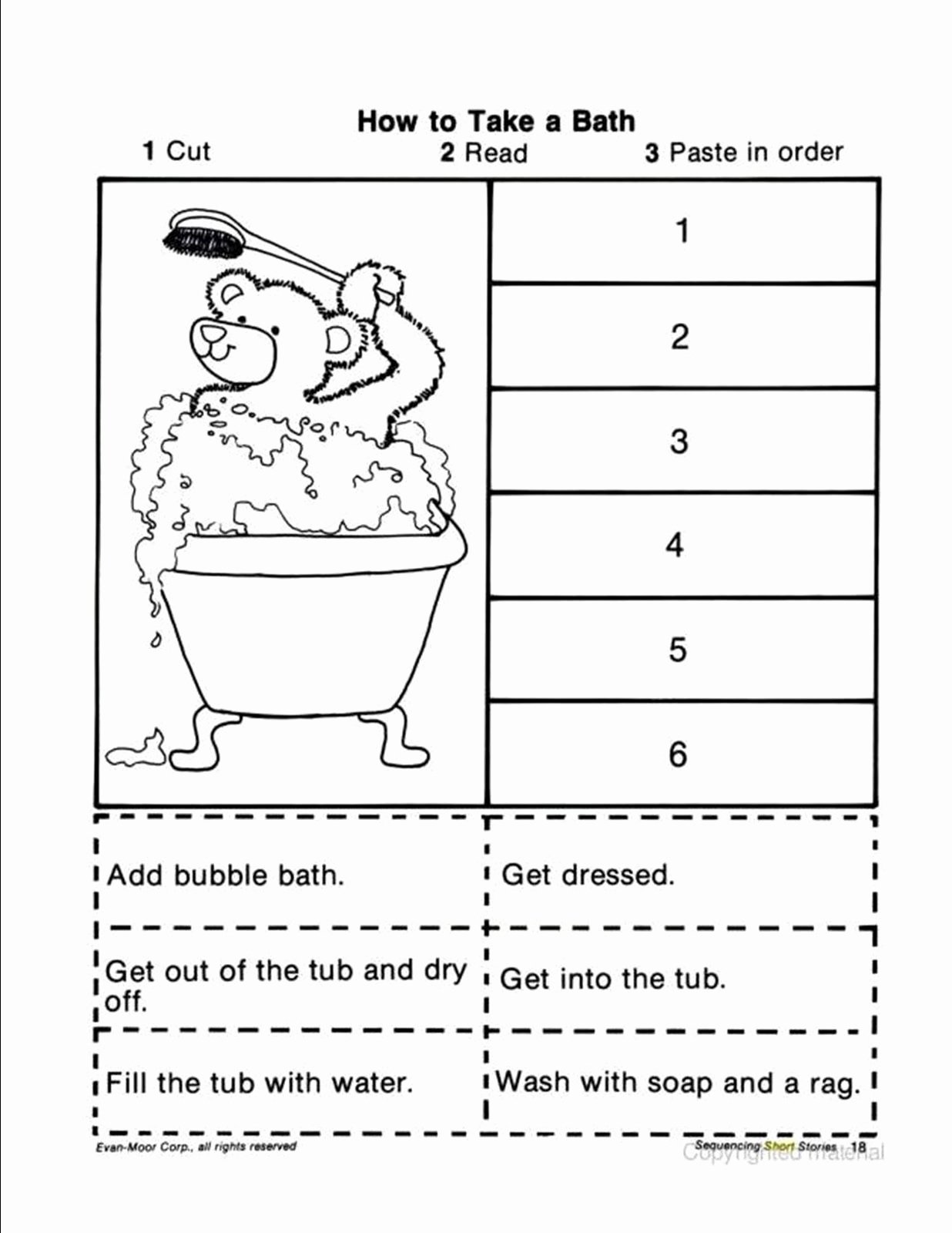 Cut and Paste Sequencing Worksheets Best Of Free Cut and Paste Sequencing Worksheet for Kindergarten