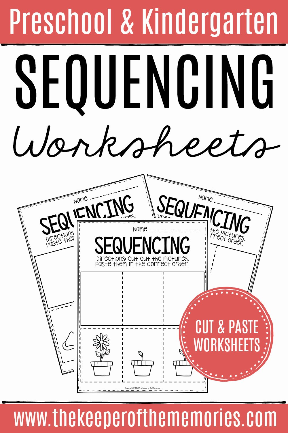 Cut and Paste Sequencing Worksheets Free 3 Step Sequencing Worksheets the Keeper Of the Memories