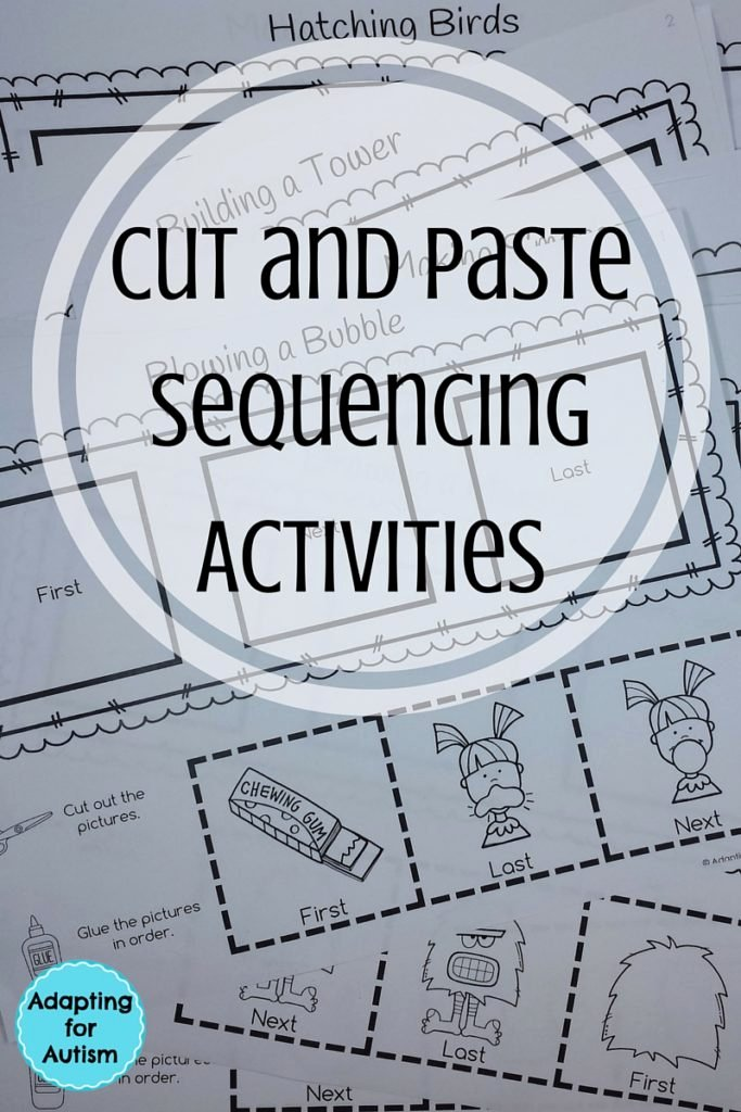 Cut and Paste Sequencing Worksheets Fresh Cut and Paste Sequencing Worksheets Adapting for Autism