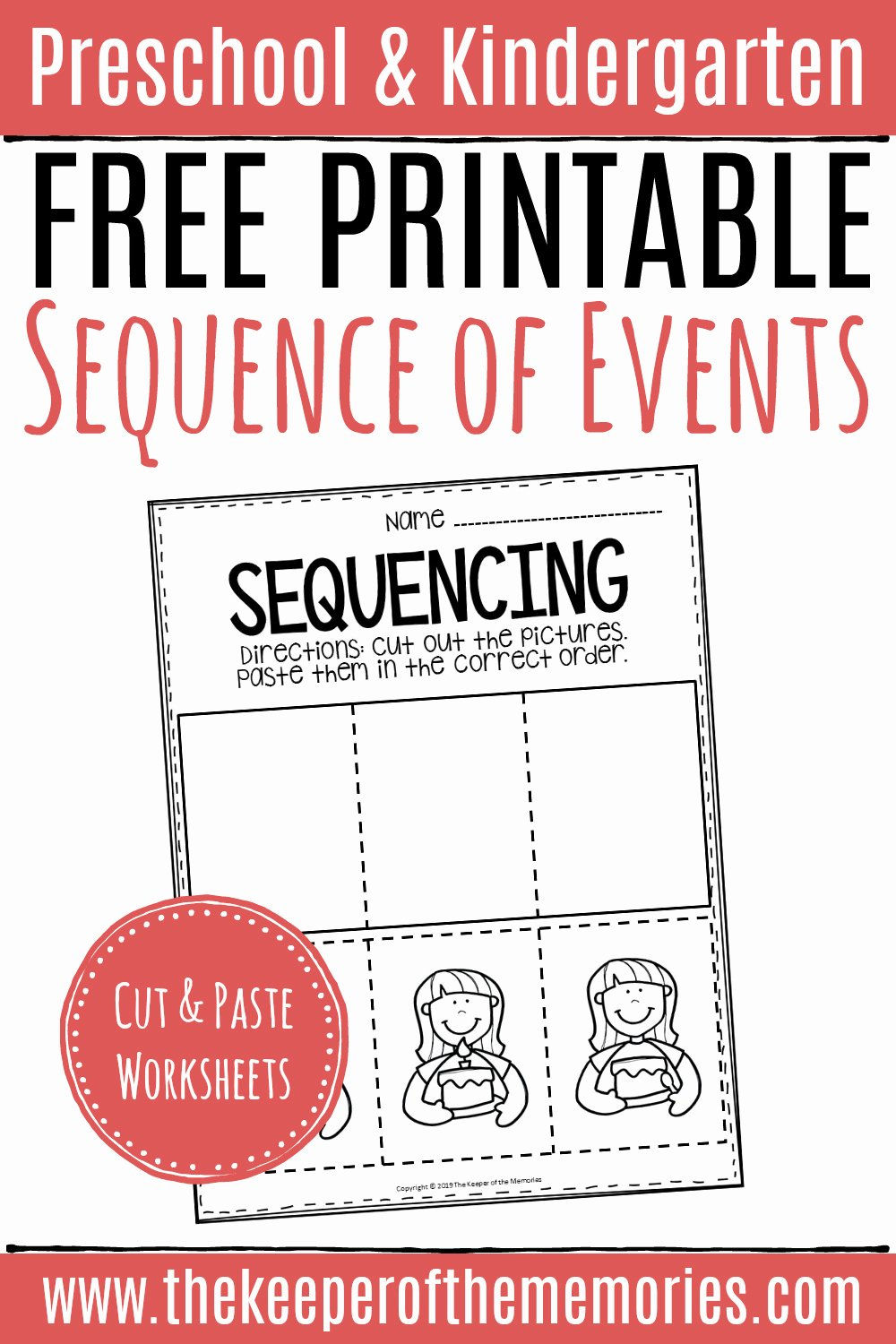 Cut and Paste Sequencing Worksheets Inspirational Free Printable Sequence Of events Worksheets