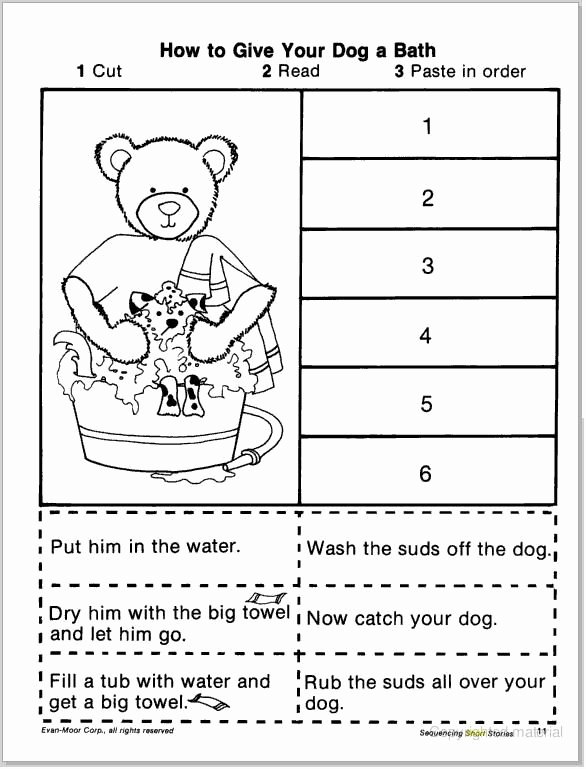 Cut and Paste Sequencing Worksheets Inspirational Pin On Neicy
