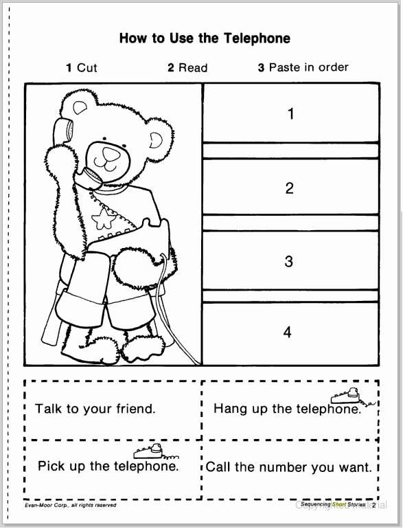 Cut and Paste Sequencing Worksheets New Pin On Jeanine7