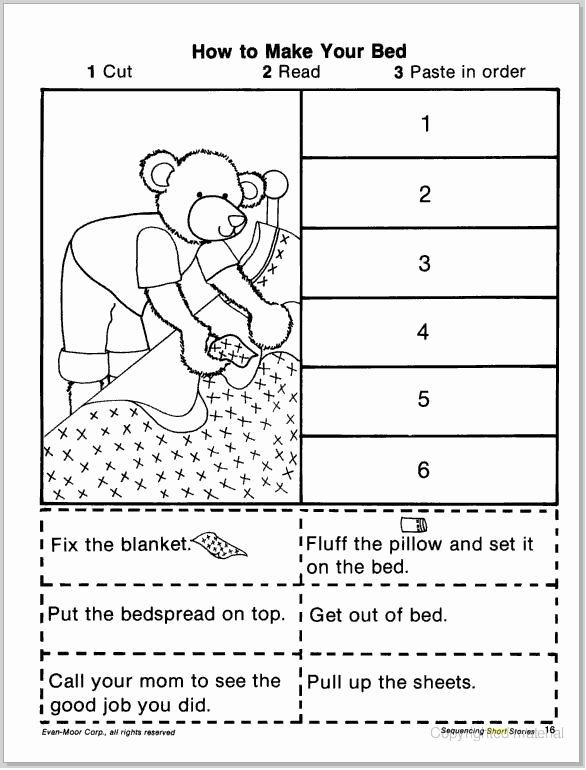 Cut and Paste Sequencing Worksheets top Pin On therapy Activities