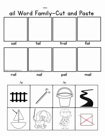 Cut and Paste Worksheets Free Lovely Ail Cut and Paste Worksheet Worksheets