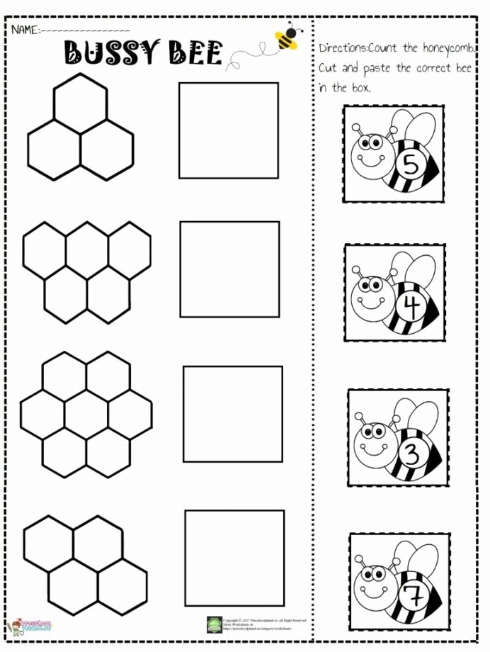 Cut and Paste Worksheets Free top Number Cut and Paste Worksheet Preschoolplanet Free