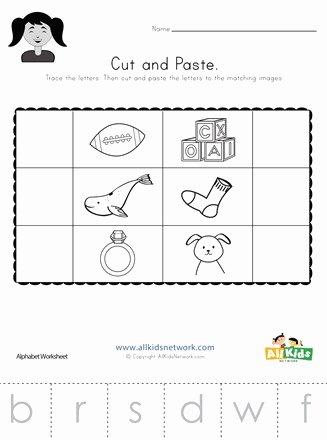 Cut and Paste Worksheets Kindergarten Kids Beginning sounds Cut and Paste Worksheet 2