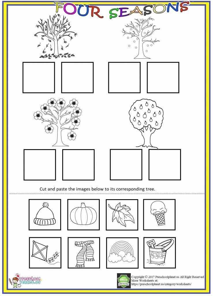 Cut and Paste Worksheets Kindergarten Lovely Four Seasons Cut and Paste Worksheet We Prepared Seas Flickr
