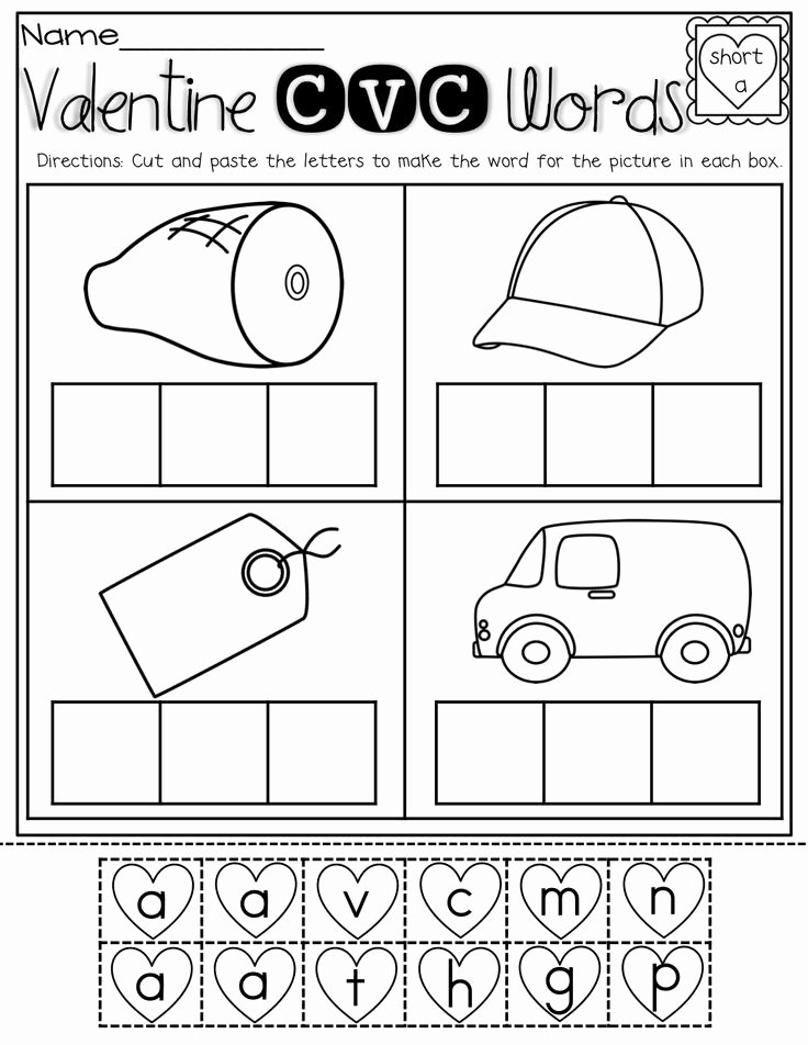 new 154 cvc worksheets cut and paste