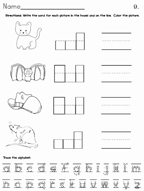 Cvc Cut and Paste Worksheets top Cvc Packet