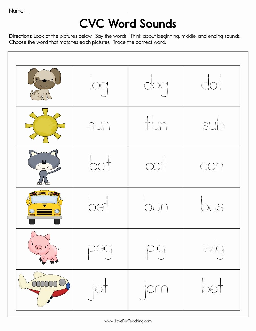 Cvc Words for Kindergarten Worksheets Fresh Worksheet 3rd Grade Math Worksheetsree Printable