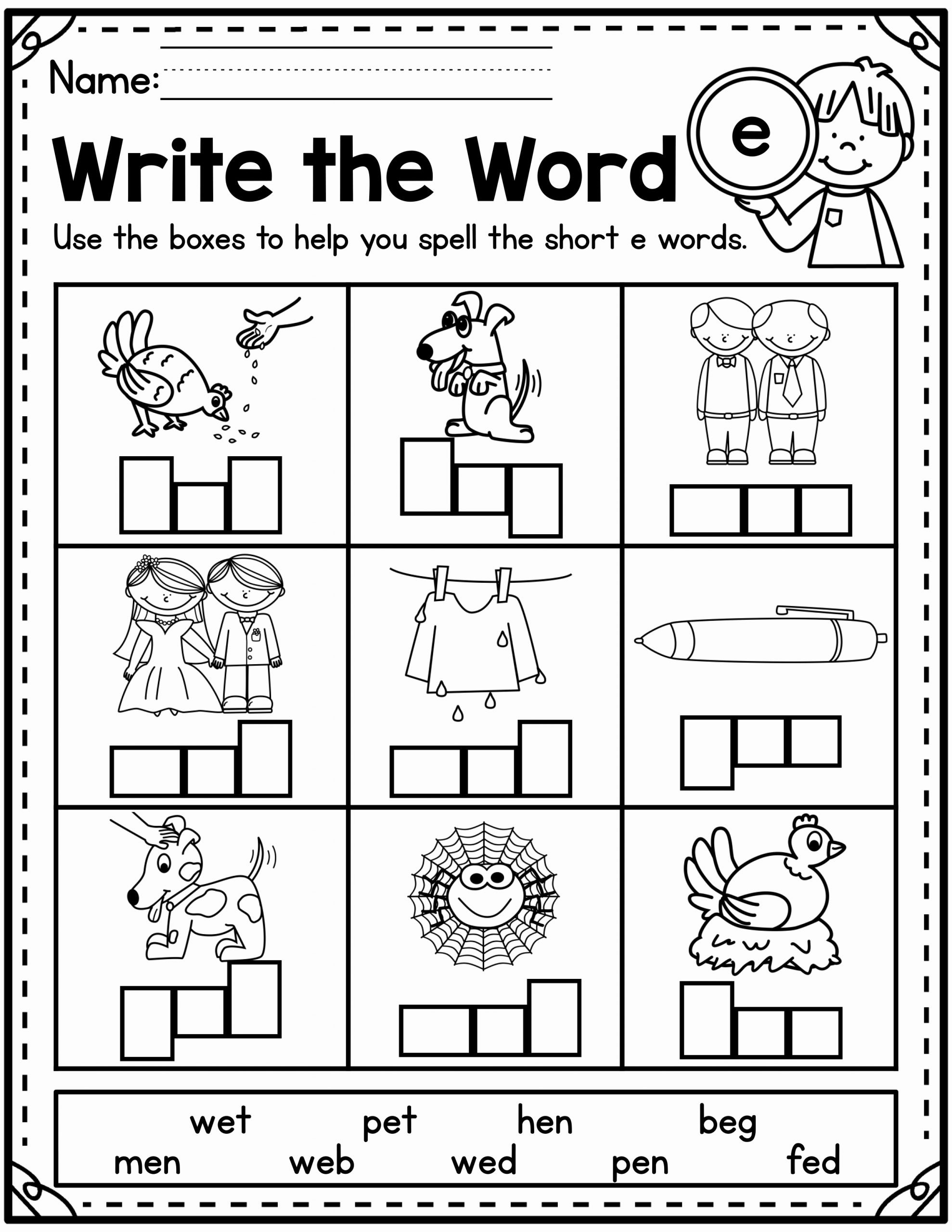 Cvc Worksheets for First Grade Fresh Cvc Worksheets
