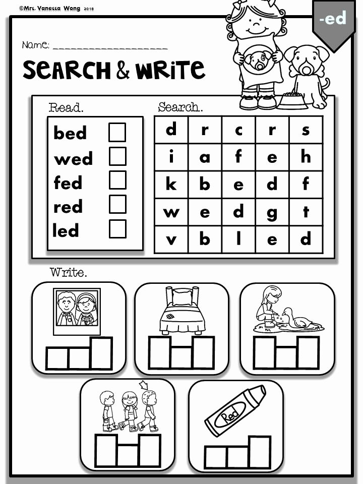 Cvc Worksheets for First Grade New Phonics Cvc Short Vowels Search & Write