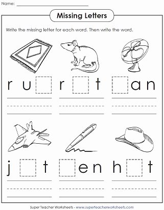 Cvc Worksheets for First Grade top Cvc Worksheet