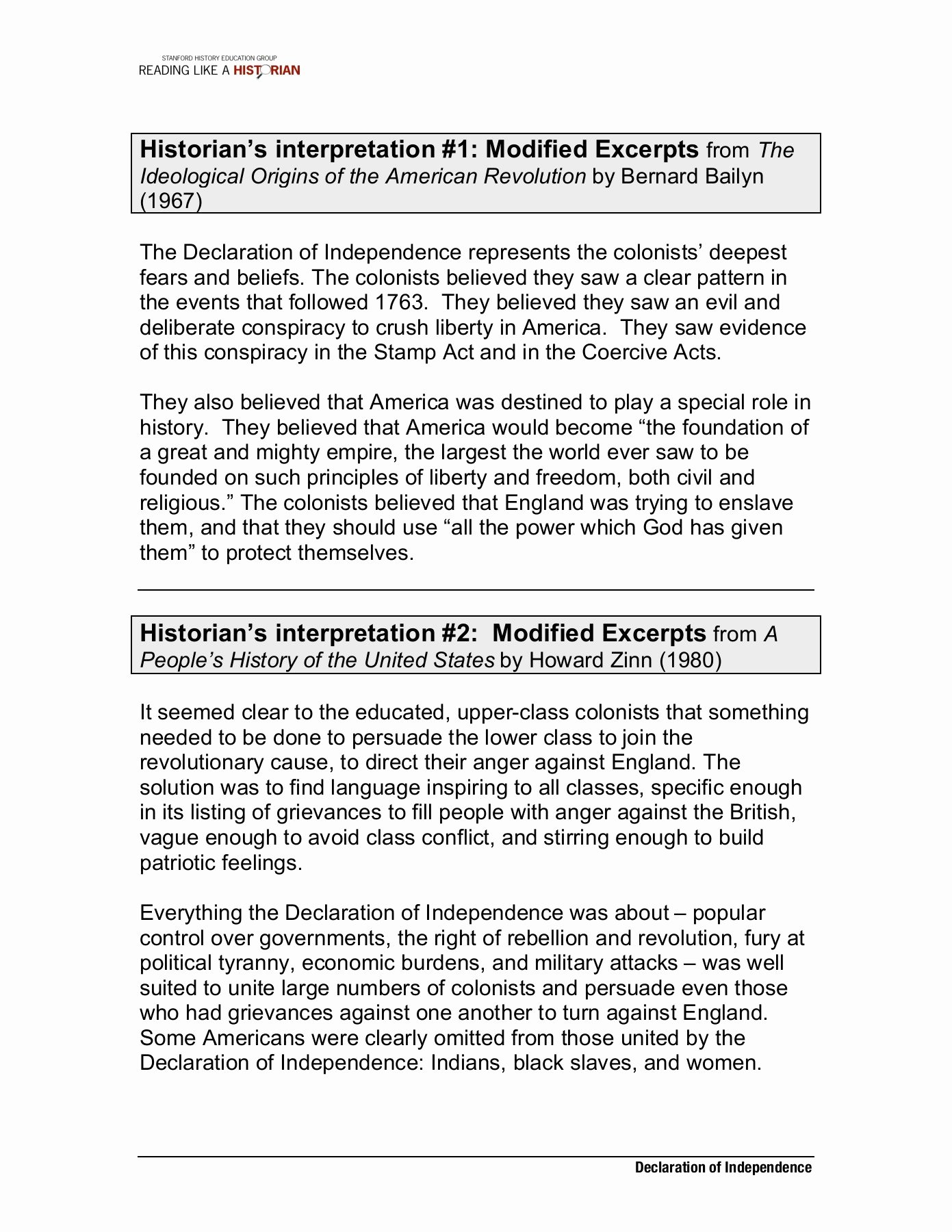 Declaration Of Independence Worksheet Answers Free Declaration Independence Reading Worksheets