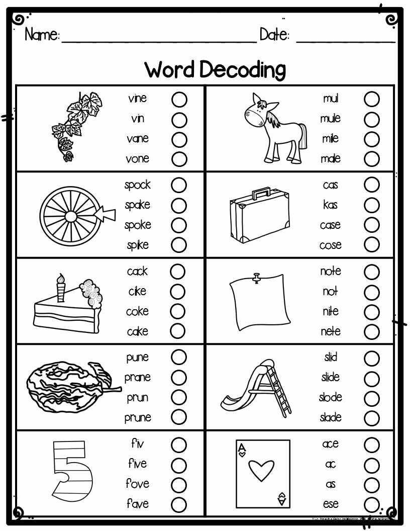 Decoding Worksheets for 1st Grade Inspirational Decoding Worksheets for 1st Grade In 2020