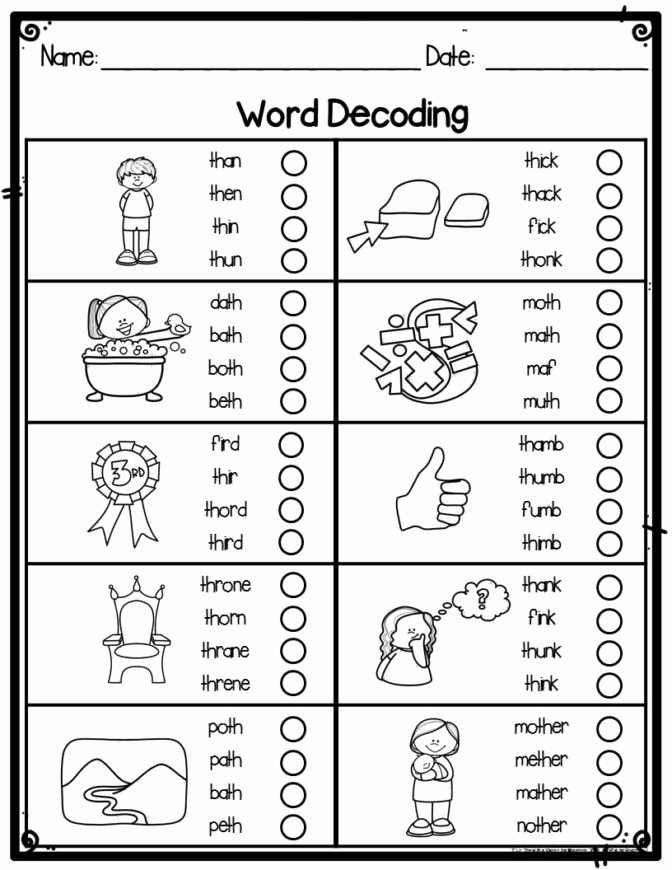 Decoding Worksheets for 1st Grade Printable Math Worksheet 44 Extraordinary Home Worksheets for