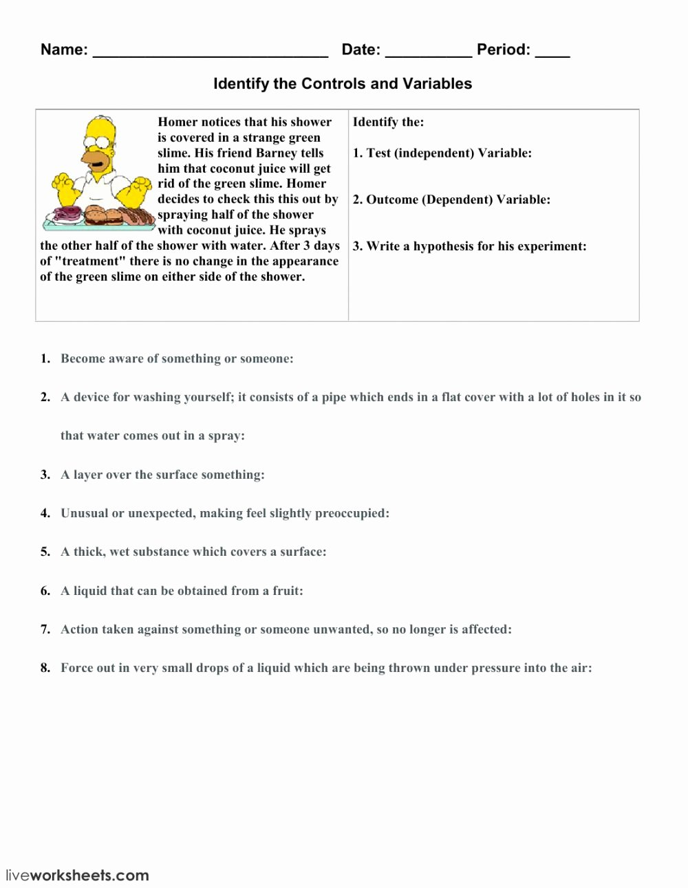 Dependent and Independent Variables Worksheet Free Independent and Dependent Variables 2 Interactive Worksheet