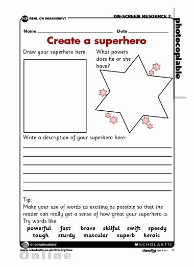 Design Your Own Superhero Worksheet New Superhero Activities Free Design Your Own Superhero