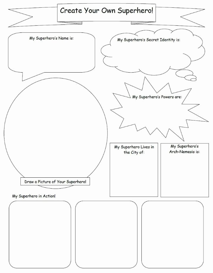 Design Your Own Superhero Worksheet Printable Design Your Own Superhero