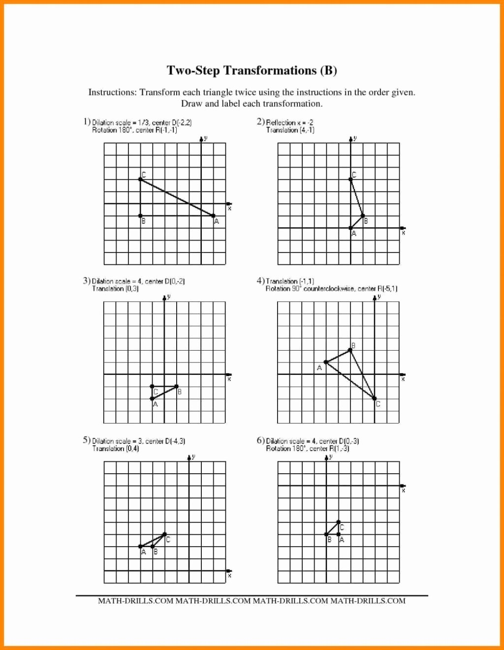 Dilations and Scale Factor Worksheet Printable Dilation Scale Factor Worksheet
