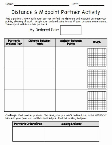 Distance and Midpoint Worksheet Answers Ideas Having Fun with Distance and Midpoint Math In the Middle