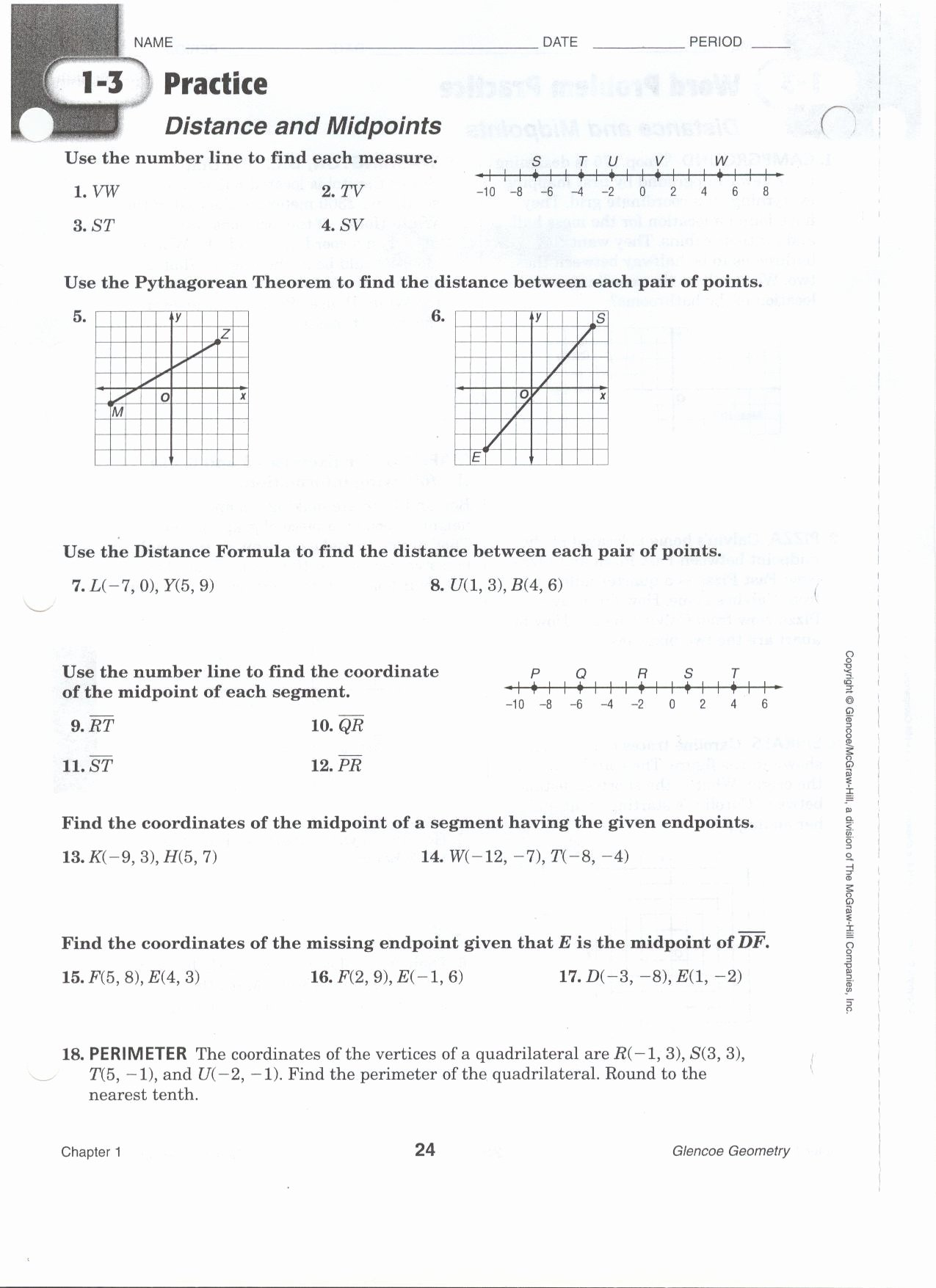 Distance and Midpoint Worksheet Answers Printable 29 Geometry Distance and Midpoint Worksheet Answers