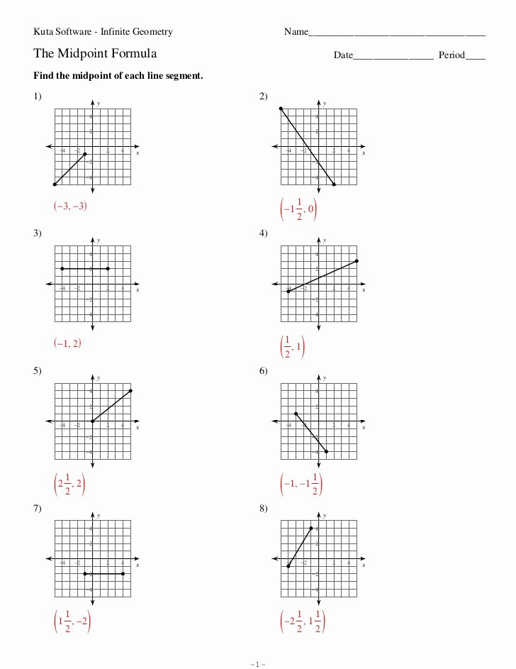 Distance and Midpoint Worksheet Answers top astaño 3